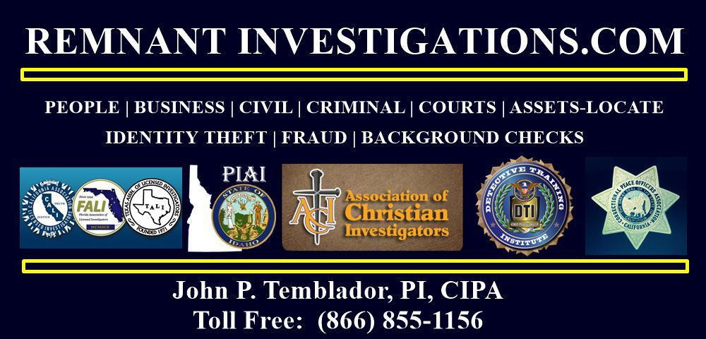 PI NEWS / TRAINING - REMNANT INVESTIGATIONS