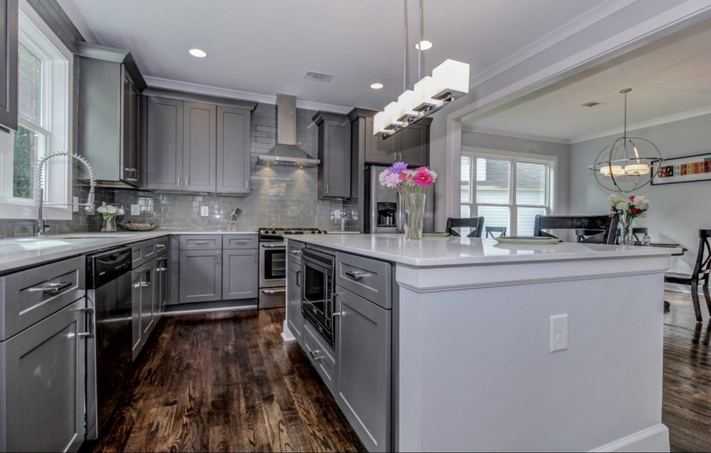 grey kitchen interior