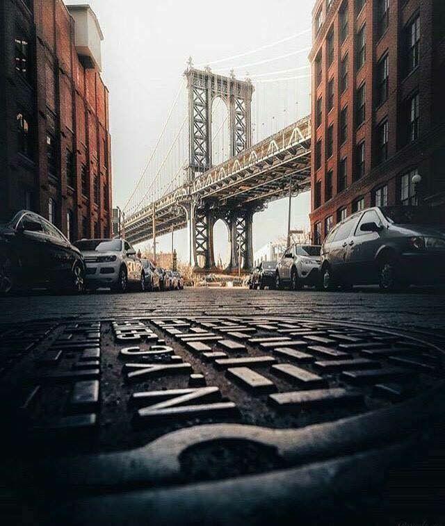 Downtown Brooklyn Manhattan Bridge NYC