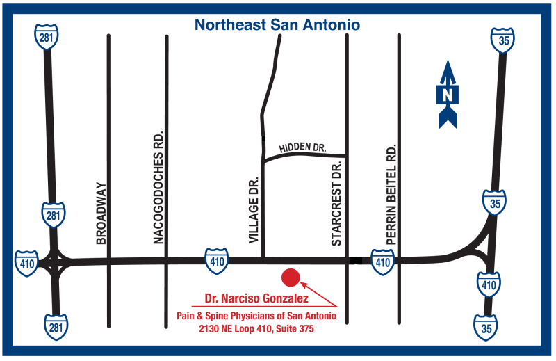 Map Location Details - Pain & Spine Physicians of San Antonio