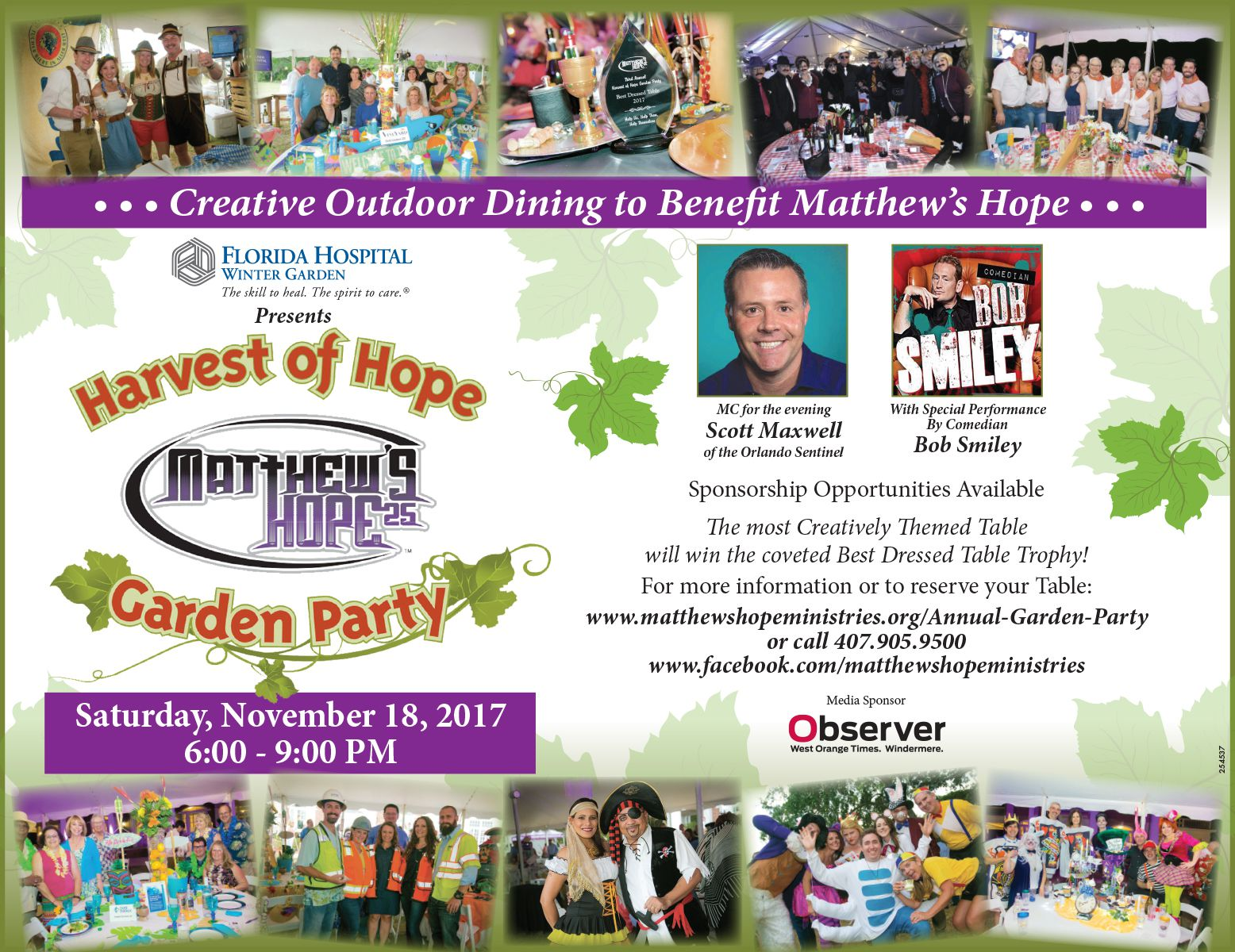 garden party tickets and sponsorship matthew u0027s hope