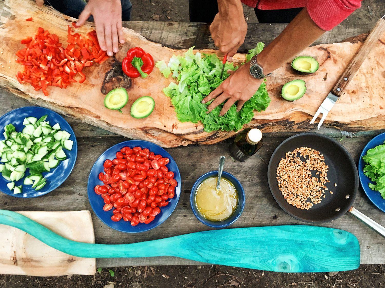 preparing to cook food