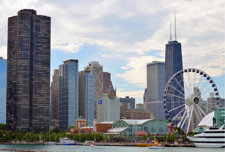 chicago illinois skyline skycrapers