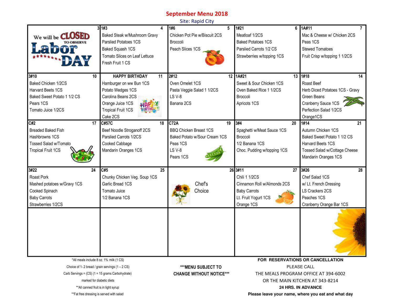 Meals info - Western South Dakota Senior Services, Inc on