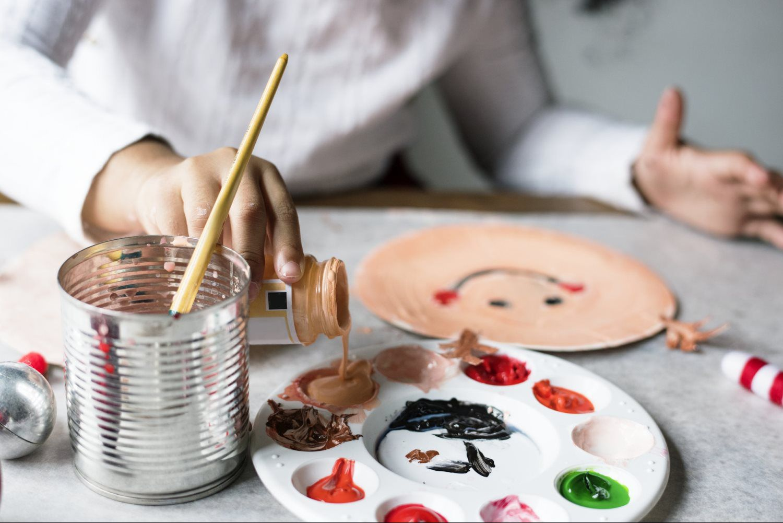 paint brush paintings colors