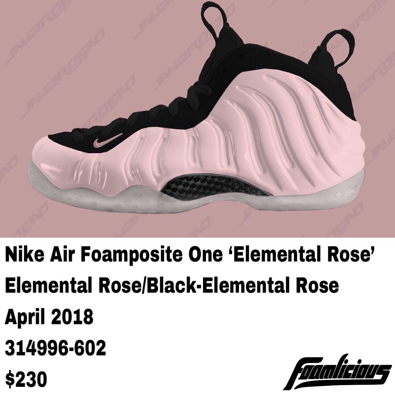 7b6769b05a2 nike air foamposite one elemental rose 314996 602