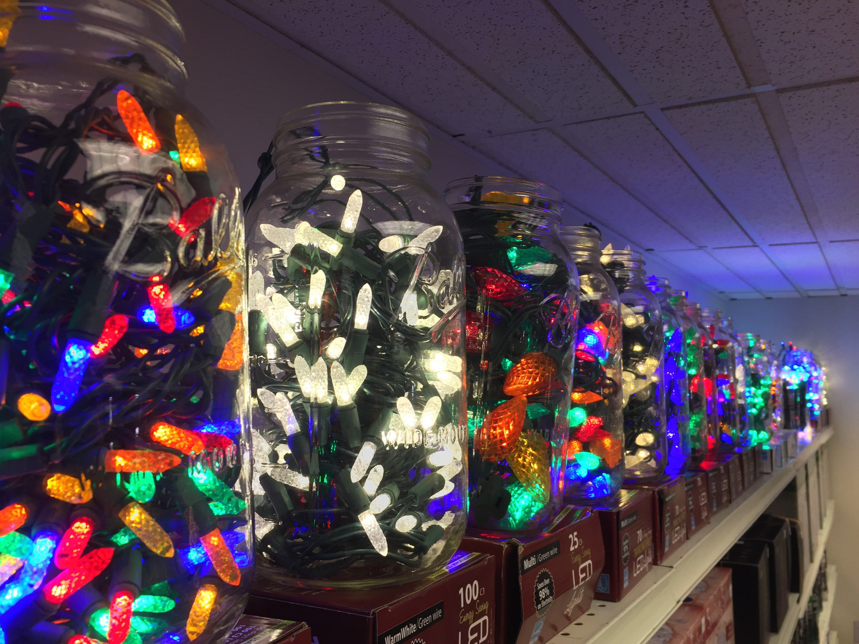 string lights of all types