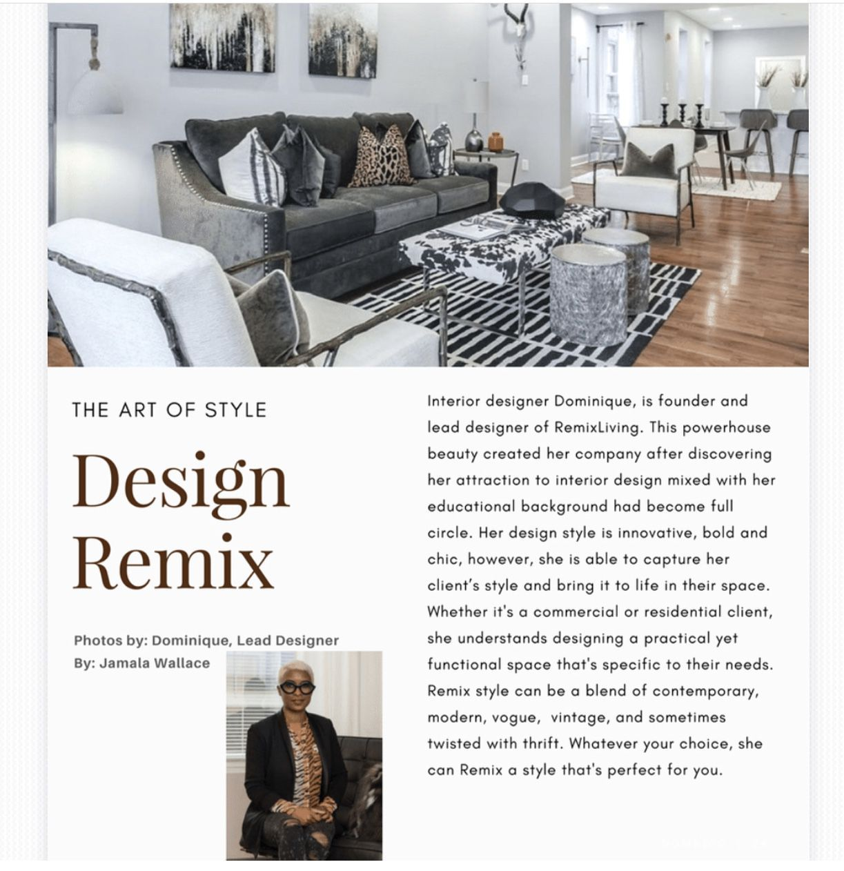 In July 2017 Remix Living Was Awarded By The Black Interior Design Network  To Be One Of The Top 10 Emerging Interior Designers. Being Hand Selected  For This ...
